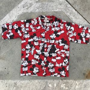 Vintage 80s Mickey Mouse button up